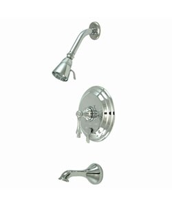 Chrome Vintage Tub & Shower Faucet Set