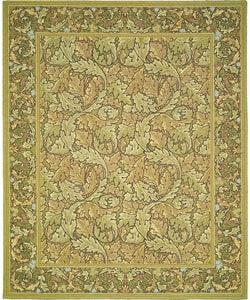 Nourison Hand-hooked Bijoux Green Wool Rug (9'9 x 13'9) - Thumbnail 0