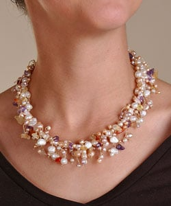 Pearl and Multi-gemstone Necklaces (Pack of 5)