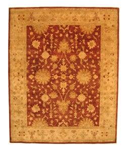 Hand-tufted Wool Rust Agra Rug (8'9 x 11'9) - 9' x 12'