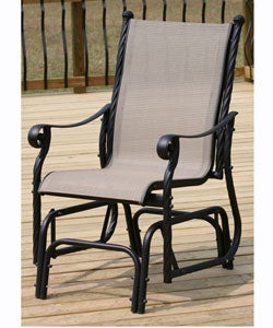 Lovely Lakeside Aluminum Single Glider Patio Chair