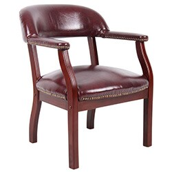 Boss Traditional Mahogany Wood Reception Chair
