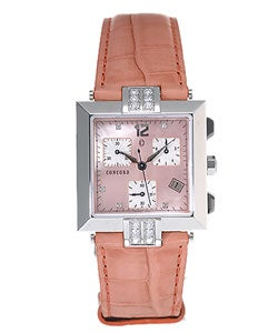 Concord La Scala Women's Orange Dial Strap Watch