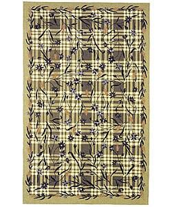 Safavieh Hand-hooked Gardens Green Wool Rug (3'9 x 5'9)