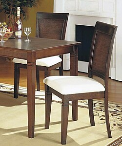 cane back dining chairs (set of 2) - free shipping today