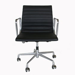Thumbnail 1, Aluminum Frame and Full Leather Office Chair.