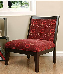 Shop Palmer Burgundy Accent Chair Free Shipping Today