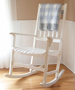 White Wooden Rocking Chair - Free Shipping Today - Overstock.com ...