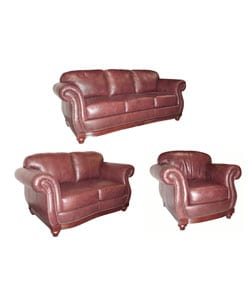 Remarkable Cinnamon Leather Sofa Loveseat Chair Overstock Com Shopping The Best Deals On Sofas Couches Alphanode Cool Chair Designs And Ideas Alphanodeonline