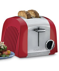 Shop Cuisinart 2 Slice Cast Metal Red Toaster Free