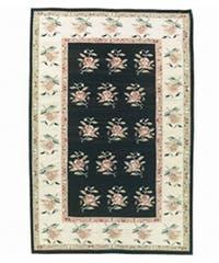 Nourison Hand-woven Mongol Kilim Black Rug (8'6 x 11'6)