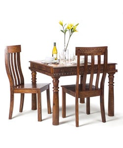 handmade hand carved rosewood dining table chairs set india