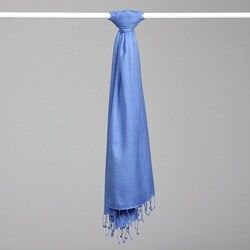 Iris Blue Pashmina and Silk Shawl