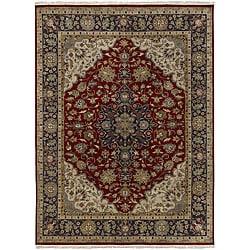 Hand-knotted Tabriz Medallion Wool Rug (7'9 x 9'9)