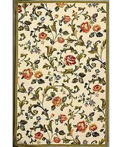 Safavieh Hand-hooked Garden of Eden Ivory Wool Rug (6' x 9')