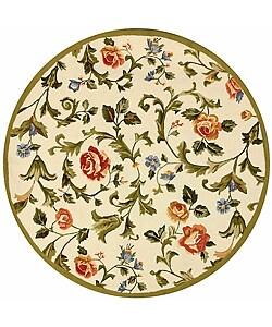 Safavieh Hand-hooked Garden of Eden Ivory Wool Rug (8' Round)