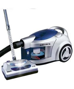europro shark pursuit hepa bagless canister vacuum refurbished