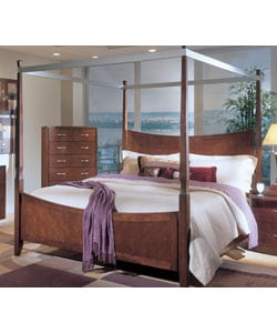 Kathy Ireland Bay Heights Queen Size Poster Bed Overstock 2295209