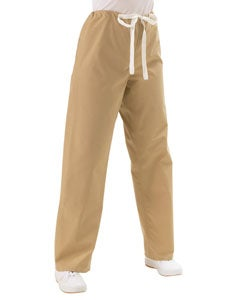 Medline Khaki Unisex Drawstring Scrub Pants