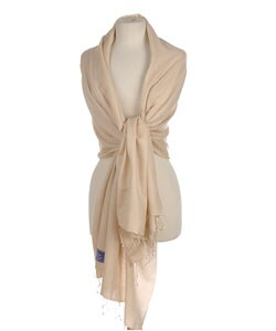 Desert Sand Pashmina and Silk Shawl