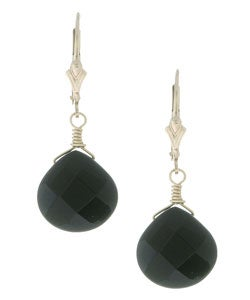 Lola's Jewelry Black Onyx Briolette Gemstone Earrings