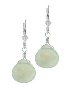 Lola's Jewelry Green New Jade Briolette Gemstone Earrings