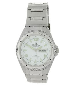 Croton Men's White Dial Stainless Steel Watch - Thumbnail 0