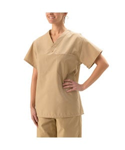 Medline Unisex Reversible Khaki Scrub Top