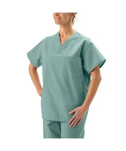 Medline Unisex Misty Green Reversible Scrub Top