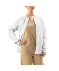 Medline Unisex White Two-pocket Warm-up Jacket