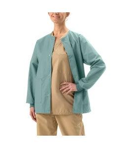 Medline Misty-Green Unisex Two-Pocket Scrub Warm-Up Jacket