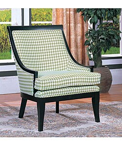 Thumbnail 1, Medford Houndstooth Olive Chair.