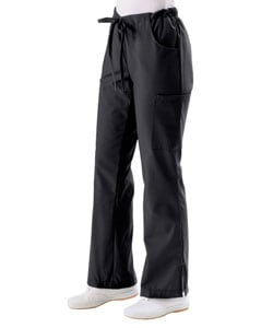 Medline Women's 5-pocket Black Cargo Scrub Pants