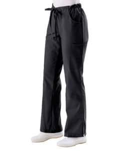 Medline Women's 5-pocket Black Cargo Scrub Pants