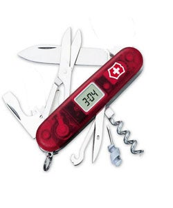Swiss Army Knife with Digital Timekeeper and Alarm - Thumbnail 0
