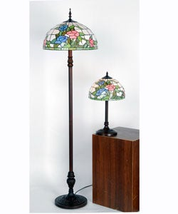 Shop Tiffany Style Floral Bouquet Lamps Set Of 2 Free