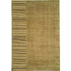 Nourison Khaki Wool/Silk Rug (5'6 x 8')