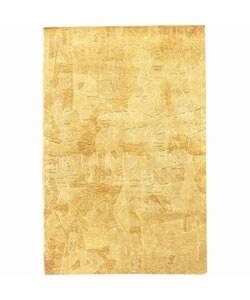 Nourison Hand-tufted Kalahari Gold Wool Rug (3'9 x 5'9) - Thumbnail 0