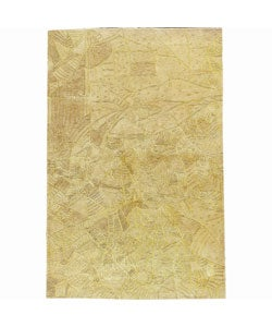 Nourison Hand-tufted Kalahari Beige Wool Rug (3'9 x 5'9) - Thumbnail 0