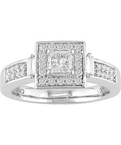 14k Gold 1/2ct TDW Princess Diamond Engagement Ring (G-H-I/ SI2-I1)