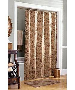 croscill harvest manor gold shower curtain - free shipping on