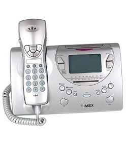 timex talking caller id clock radio phone free shipping on orders over 45. Black Bedroom Furniture Sets. Home Design Ideas