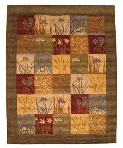 Hand-tufted Wool Ghati Rug (8' x 10') - Thumbnail 0