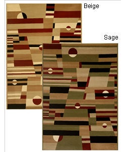 Admire Home Living Sorina Abstract Area Rug (7'9 x 9'6) - Thumbnail 0