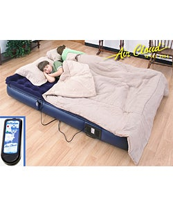 Air Cloud Pillowtop Full Size Air Bed with Remote - Thumbnail 0