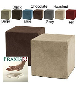 Shop Deluxe Memory Foam Cube Ottoman Free Shipping On