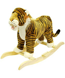 Plush Children's Rocking Tiger - Thumbnail 0