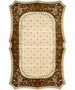 Nourison Hand-tufted Serenata Beige Wool Rug (5'3 x 8'3) - Thumbnail 0
