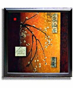 Don Li-Leger Oriental Blossoms II Framed Canvas Art