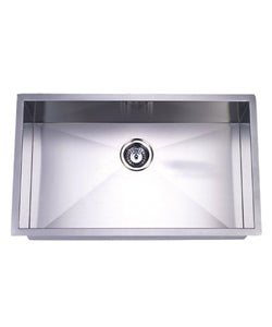 Thumbnail 1, Undermount Single Bowl 32-inch Stainless Steel Kitchen Sink.